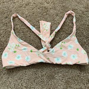 Frankie's Bikini Pink Pansies Top